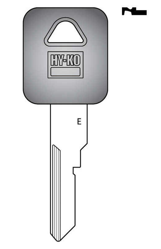 Hy-Ko  Automotive  Key Blank  EZ# B77P  Single sided For Fits 1991-1996 Beretta And Corsica Ignition