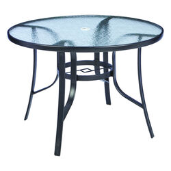 Living Accents Fairview Round Black Glass Dining Table