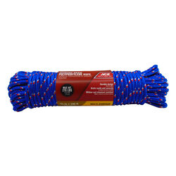 Ace  3/8 in. Dia. x 100 ft. L Assorted  Diamond Braided  Polypropylene  Rope