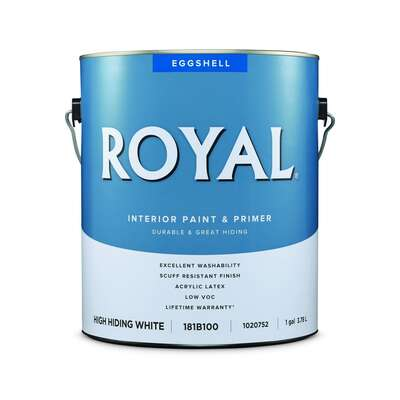 Royal  Eggshell  High Hiding White  Water-Based  Paint  Interior  1 gal.