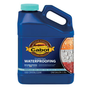 Cabot  Crystal Clear  Water-Based  Waterproofer Wood Protector  1 gal.