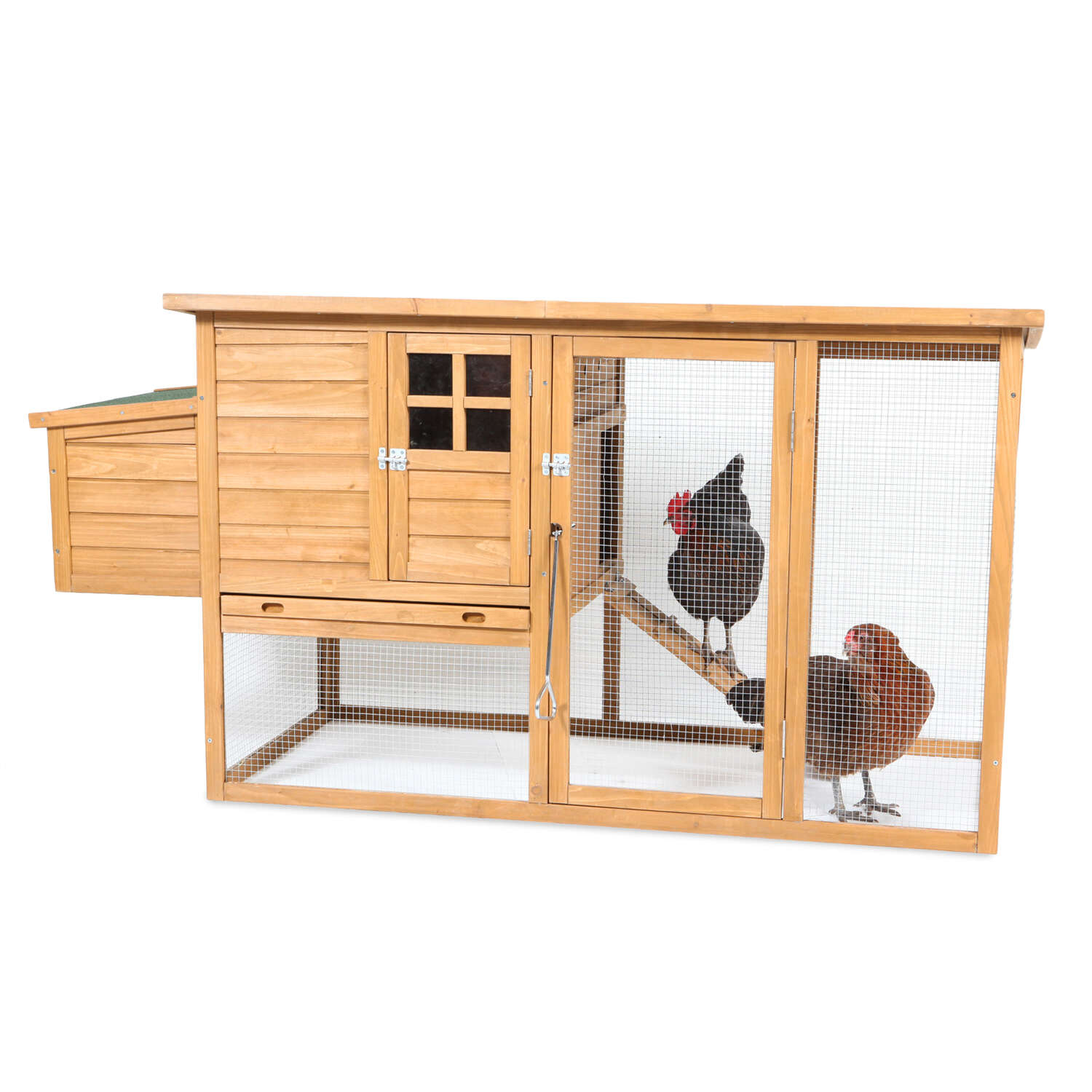 Aspen Pet  2-4 Hens  Wood  Flat Top Roof Chicken Coop