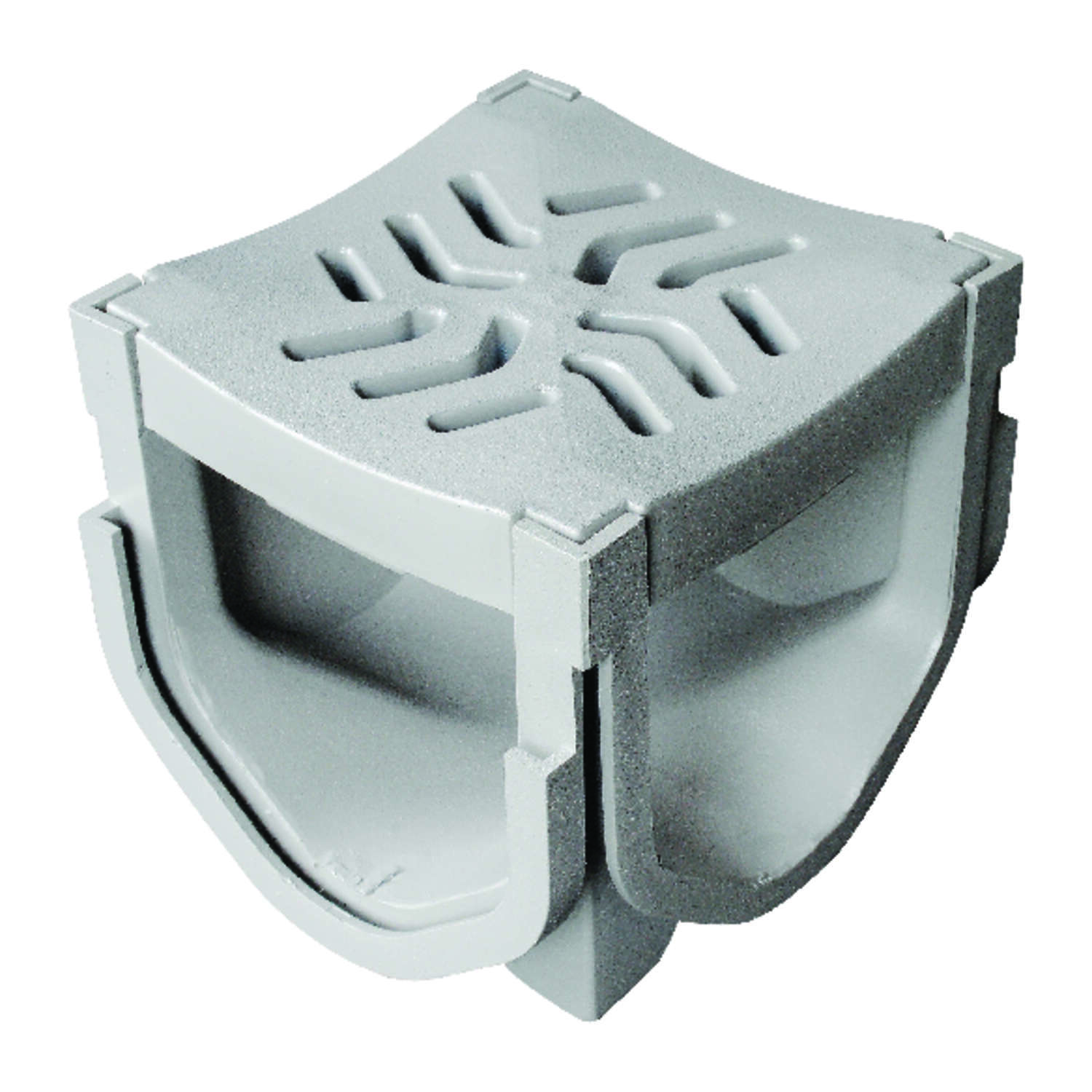 Fernco  Storm Drain Plus  Gray  Square  Polypropylene  Channel Grate