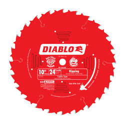 Diablo 10 in. Dia. x 5/8 in. Carbide Tip Ripsaw Blade 24 teeth 1 pc.