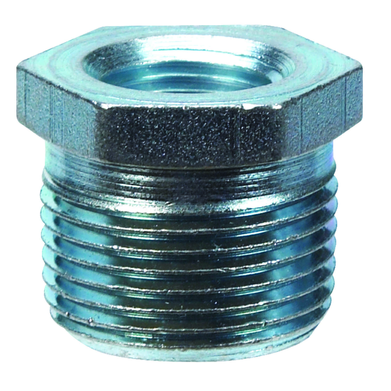 Billco  1/2 in. MPT  3/8 in. Dia. x 0.8 in. L MPT  Galvanized Steel  Hex Bushing
