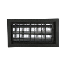 Air Vent 9.5 in. H x 17.5 in. W Black Plastic Foundation Vent