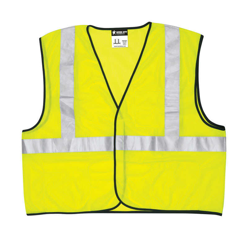 Safety Works  Reflective Polyester  Safety Vest  Yellow  L  1 pk