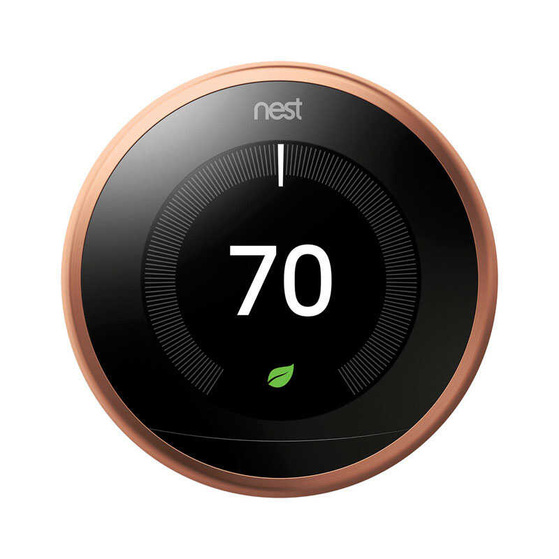 Google  Nest  Built In WiFi Heating and Cooling  Dial  Smart Thermostat