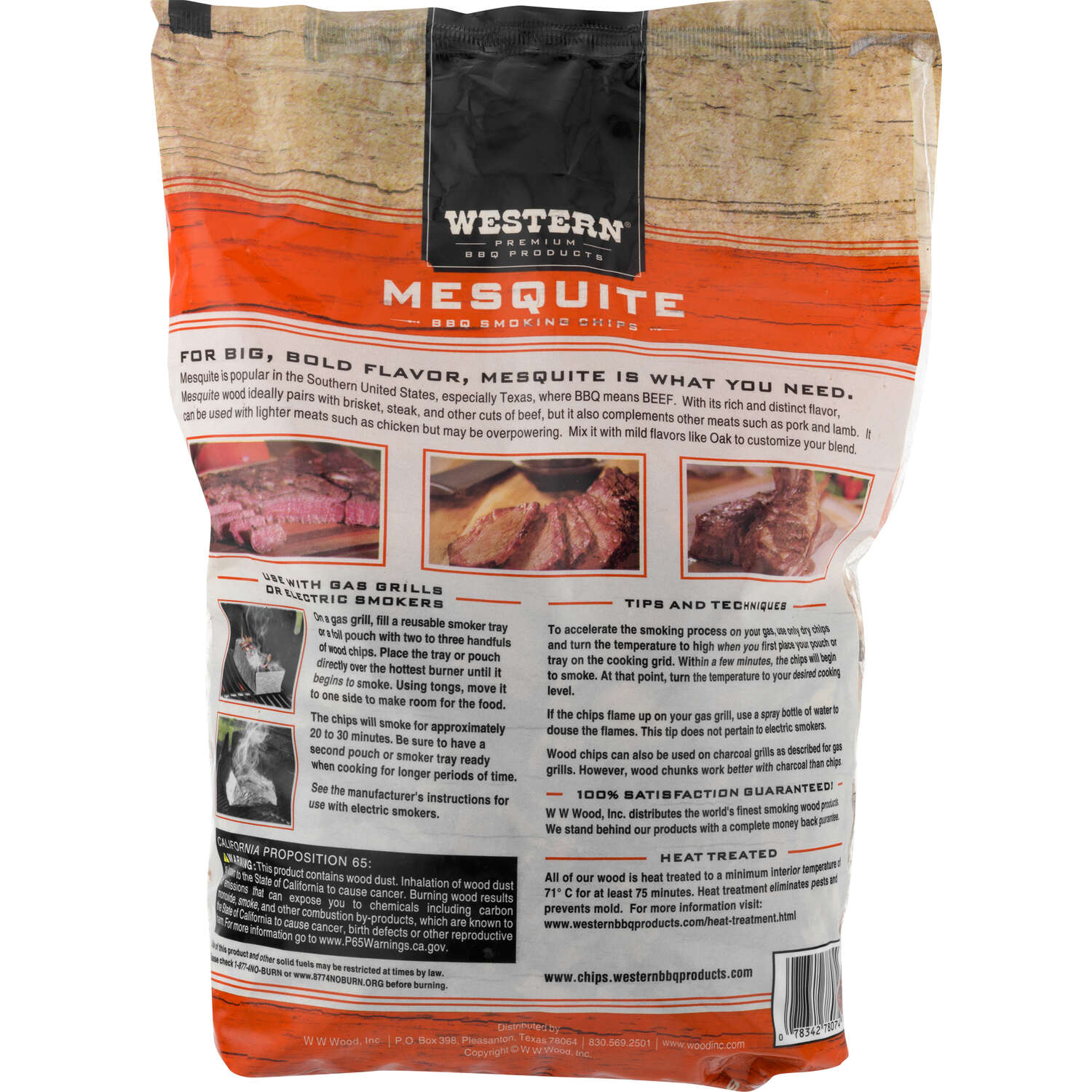 Western  Mesquite  Wood Smoking Chips  180 cu. in.