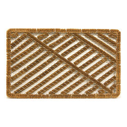 Sports Licensing Solutions  Wire Brush  Brown  Coir  Coco Mat  30 in. L x 18 in. W
