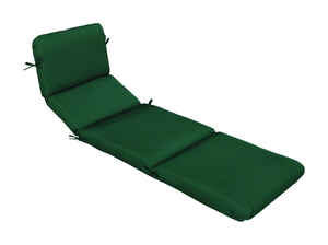 Casual Cushion  Green  Polyester  Seating Cushion  74 in. L x 23 in. W x 3.5 in. H