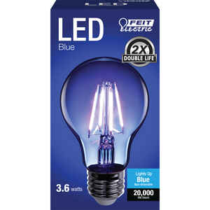 FEIT Electric  Filament  A19  E26 (Medium)  LED Bulb  Blue  30 Watt Equivalence 1 pk