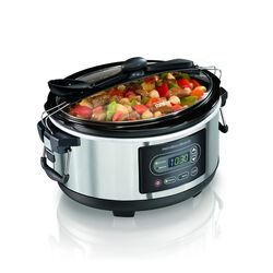 Hamilton Beach  Stay or Go  5 qt. Silver  Stainless Steel  Programmable Slow Cooker