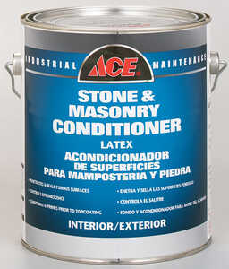 Ace  Stone & Masonry Conditioner  Clear  Latex  Paint  For New concrete at least 30 days old 1 gal.