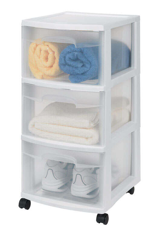 Sterilite  24 in. H x 12.625 in. W x 14.5 in. D Stackable Drawer Organizer