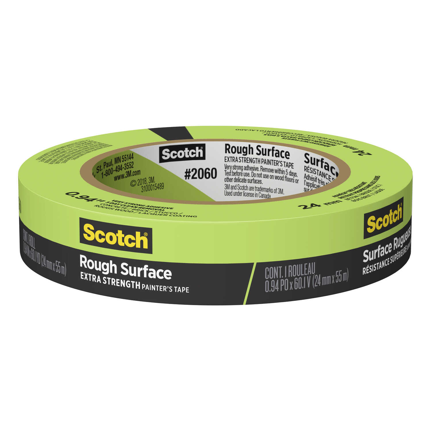 Scotch  0.94 in. W x 60 yd. L Green  High Strength  Masking Tape  1 pk
