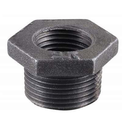 BK Products  3/4 in. MPT   x 1/2 in. Dia. FPT  Black  Malleable Iron  Hex Bushing