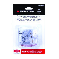 Monster  Just Hook It Up  RJ-45 Modular Plugs  10 pk