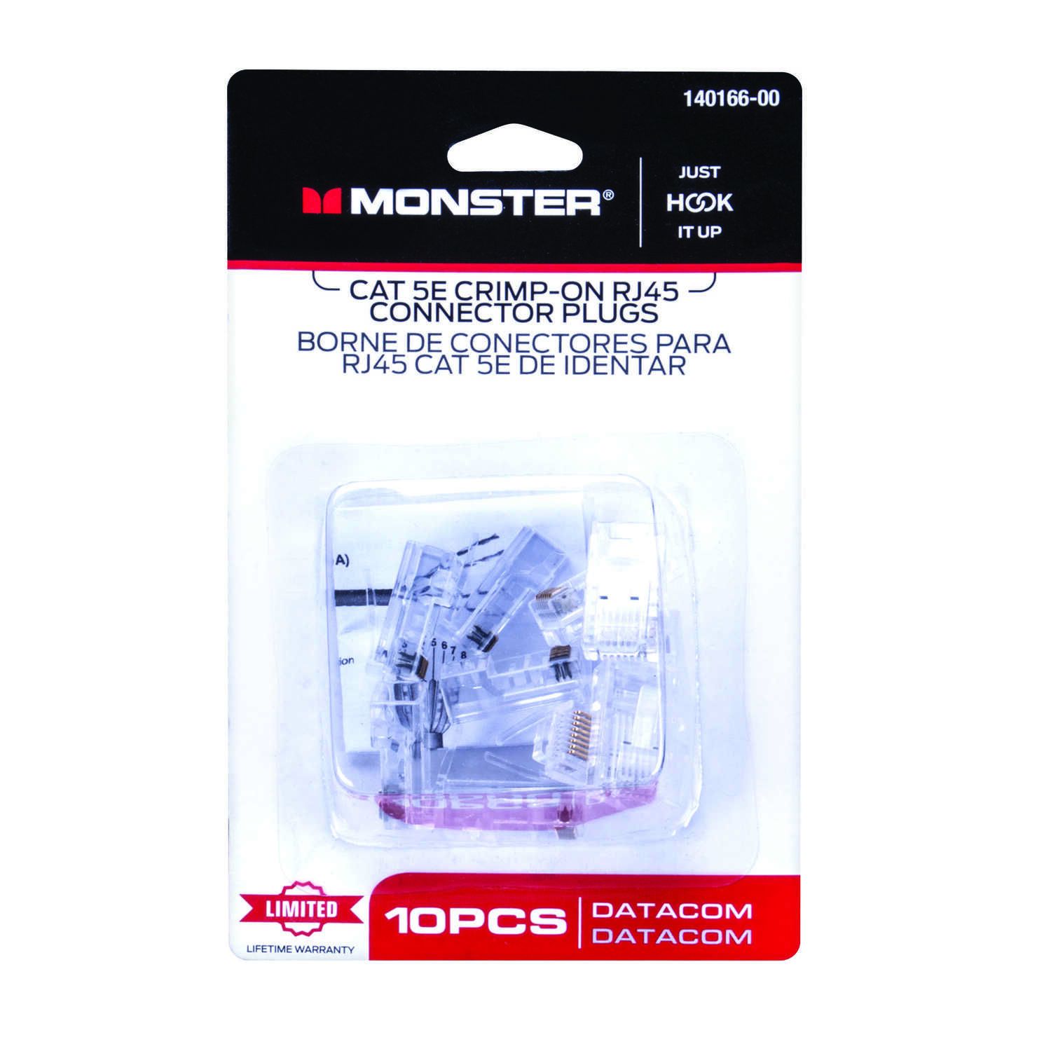 Monster Cable  Just Hook It Up  10 pk RJ-45 Modular Plugs