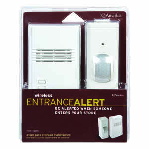 IQ America  White  Plastic  Security Sensor