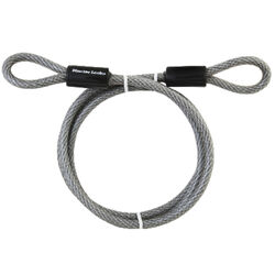 Master Lock  3/8 in. Dia. x 72 in. L Vinyl Coated Steel  Flexible Braided Steel Cable