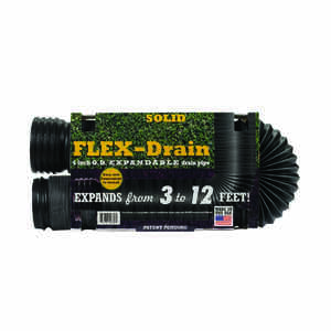 Flex-Drain  12 ft. L x 4 in. Dia. x 12 in. Dia. Poly  Drain Pipe