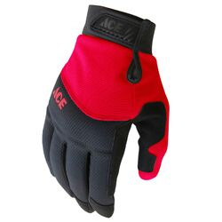 Ace M General Purpose Black/Red Gloves
