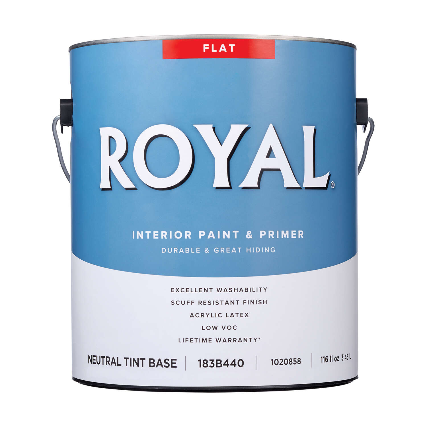 Royal Flat Tint Base Neutral Base Paint and Primer Interior 1 gal.