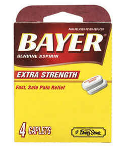 Bayer  Lil Drugstore  Extra Strength Aspirin  4 count