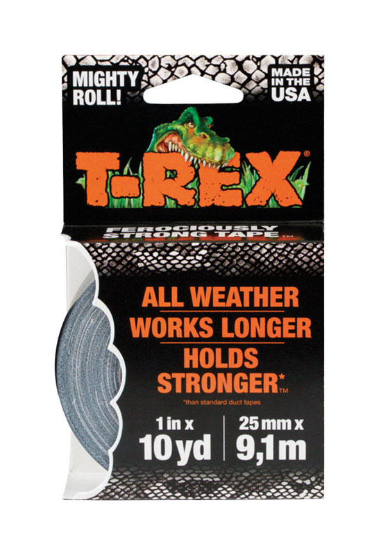 T-Rex  30 ft. L x 1 in. W Gray  Duct Tape