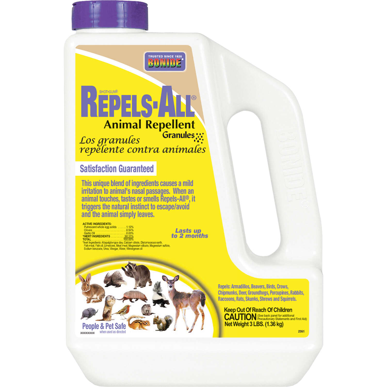 Bonide  Repels-All  Animal Repellent  Granules  For Most Animal Types 3 lb.