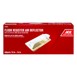 Ace  14 in. W 1-Way  Clear  Plastic  Air Deflector