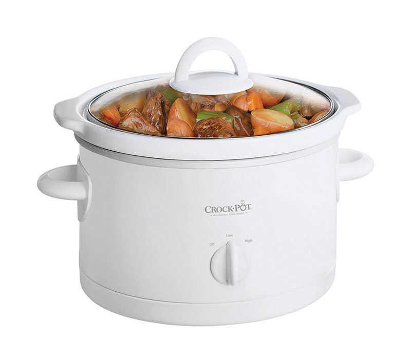 Crock Pot  2.5 qt. Stoneware  Slow Cooker  White