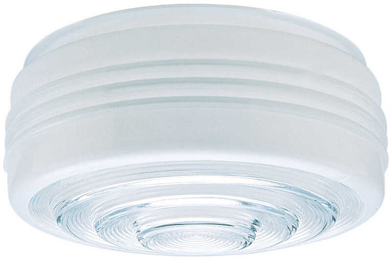 Westinghouse  Drum  White  Glass  6 pk Lamp Shade
