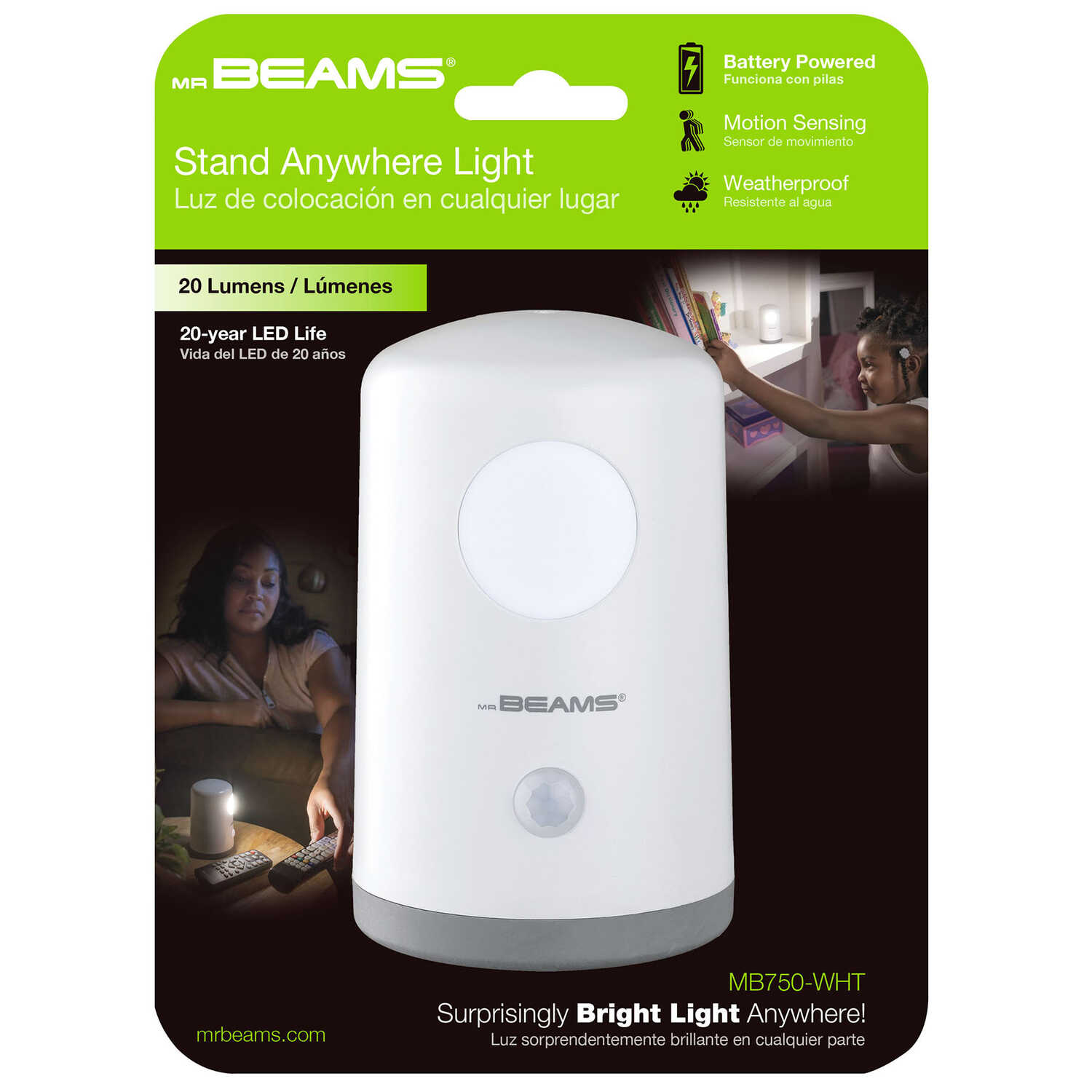 Mr. Beams  Automatic  Battery Powered  LED  Night Light
