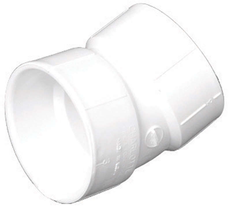 Charlotte Pipe Schedule 30 1-1/2 in. Hub x 1-1/2 in. Dia. Hub PVC Elbow