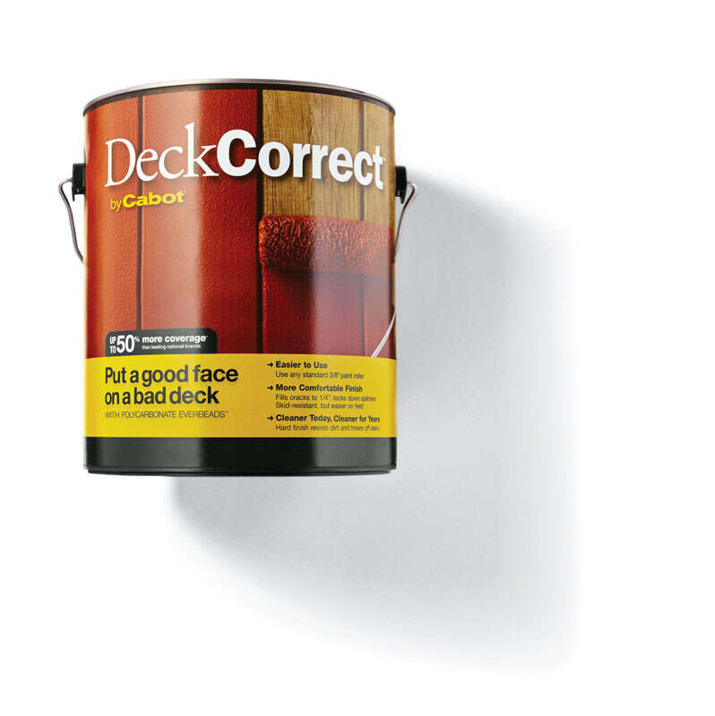 Cabot  Deck Correct  Solid  Tintable Tint Base  Water-Based  Latex  Deck Stain  1 gal.