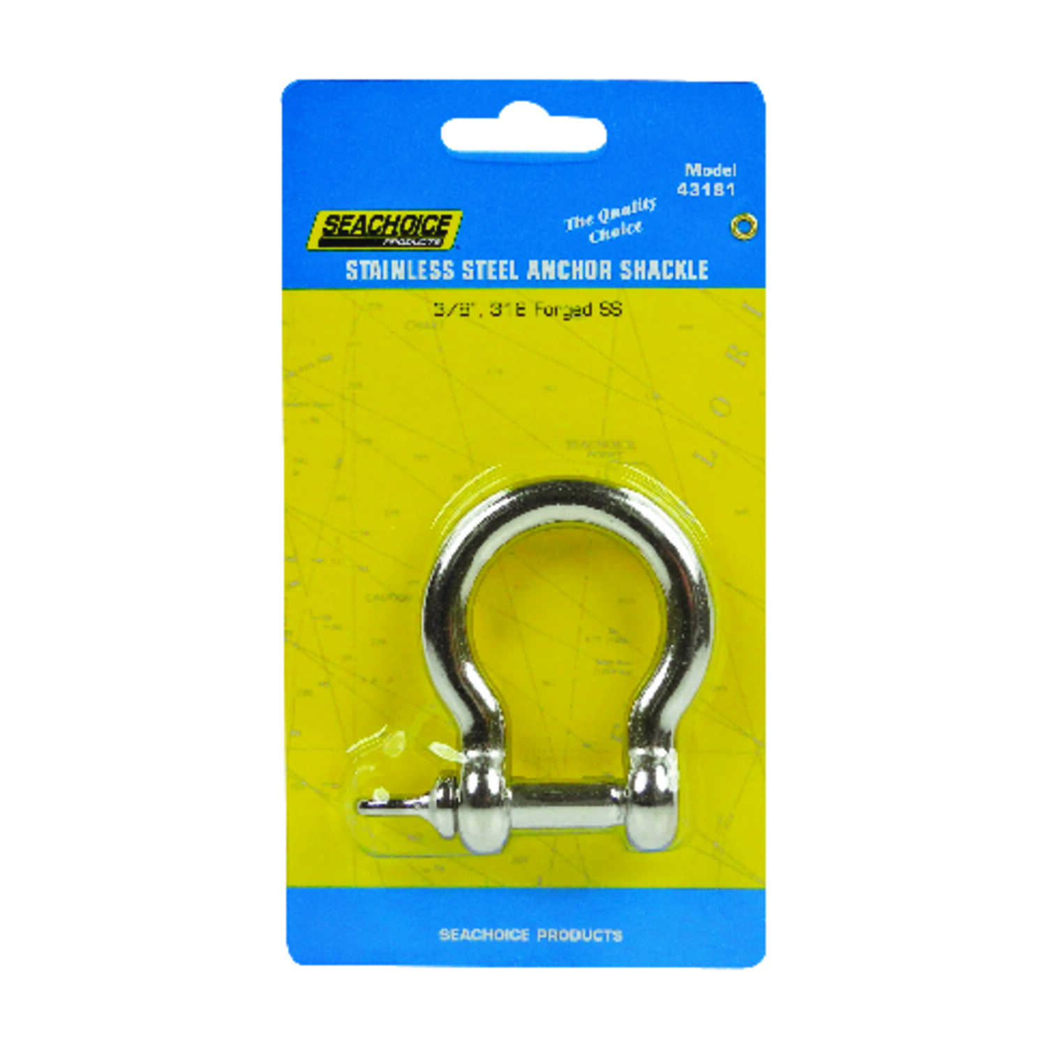 Seachoice  Polished  3/8 in. W Stainless Steel  Shackle  1 pc.