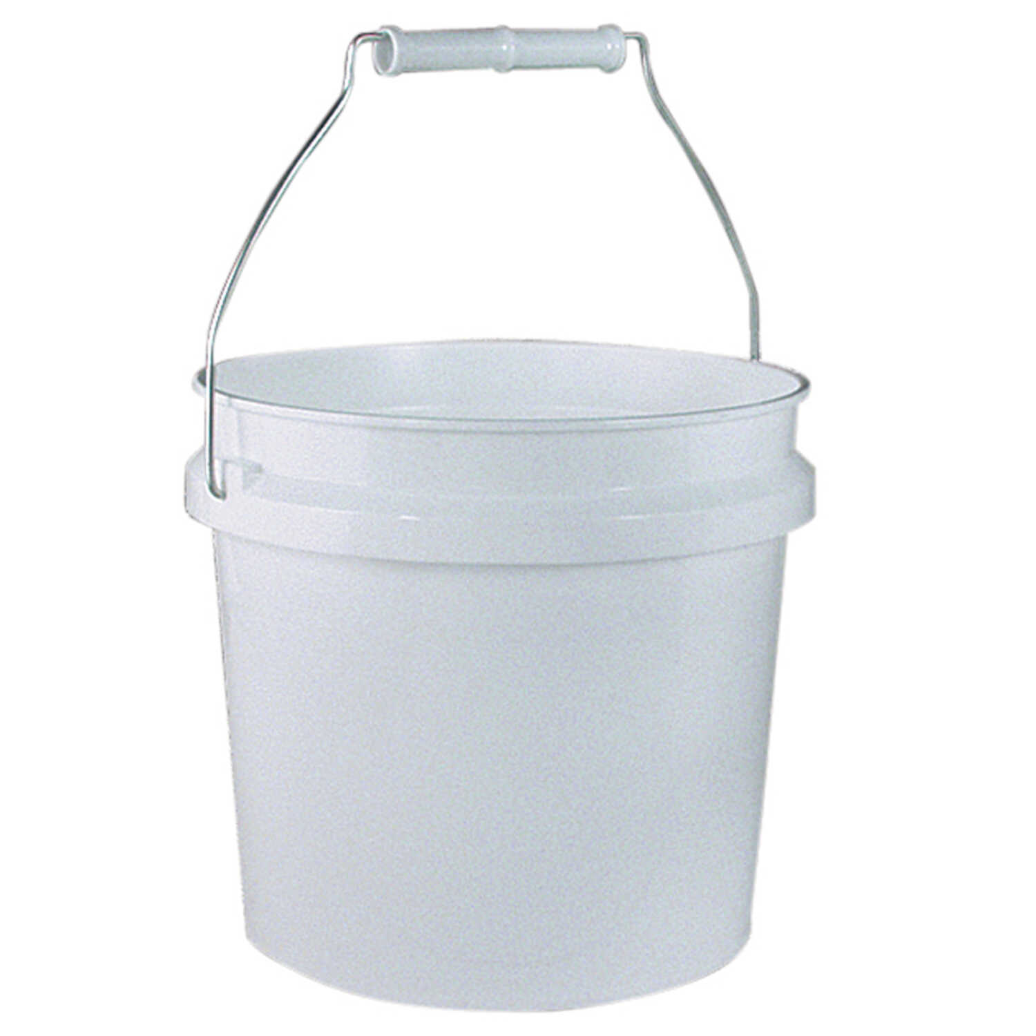 Leaktite  White  1 gal. Plastic  Bucket