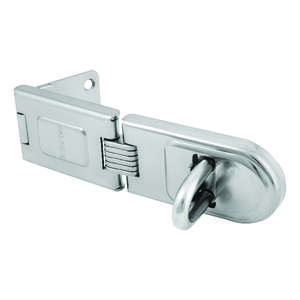 Master Lock  Bright  Hardened Steel  6-1/4 in. L Fixed Staple Hasp