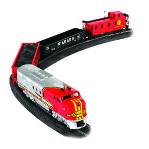 Bachmann  Santa Fe Flyer  Train Set  Plastic/Steel
