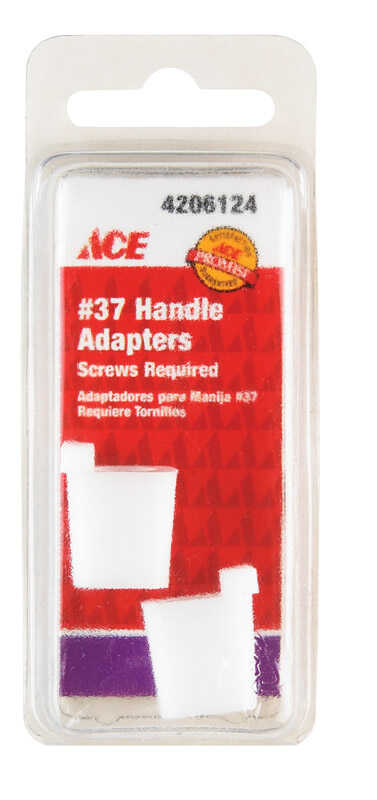 Ace  Broach  Plastic  Clear  Faucet Handle Adapter