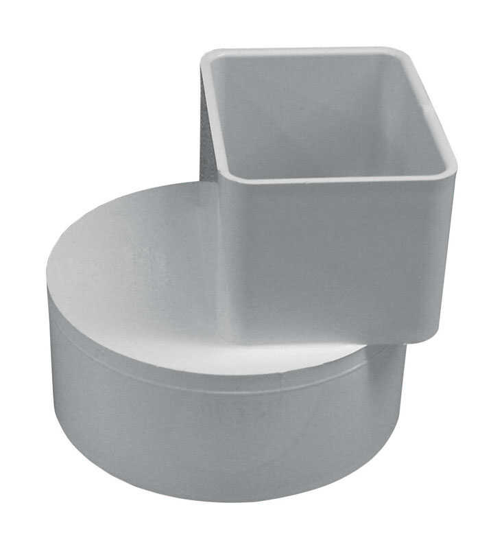 Genova  Raingo  White  Vinyl  Downspout Adapter