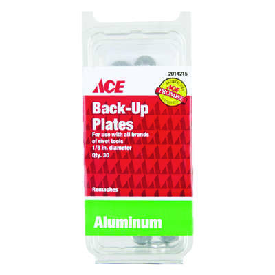 Ace  Steel  Backup Plates  1/8 in. 30 pc.