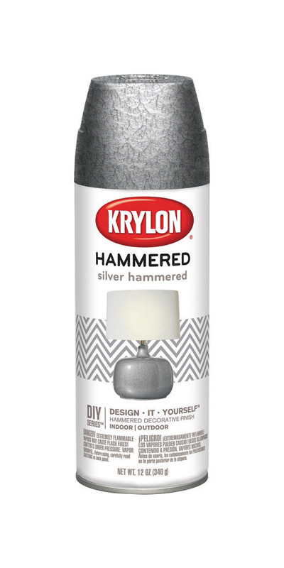 Krylon  Hammered  Spray Paint  12 oz. Silver