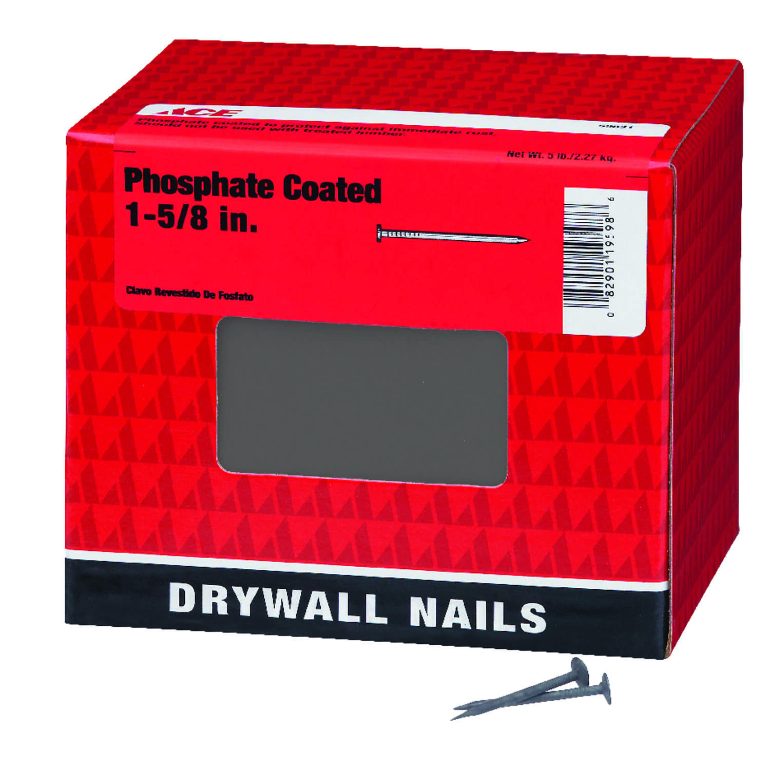 Ace  1-5/8 in. Drywall  Phospate-Coated  Nail  5 lb.
