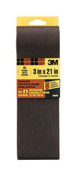 3M  21 inch in. L x 3 in. W Aluminum Oxide  Sanding Belt  80 Grit Medium  5 pc.