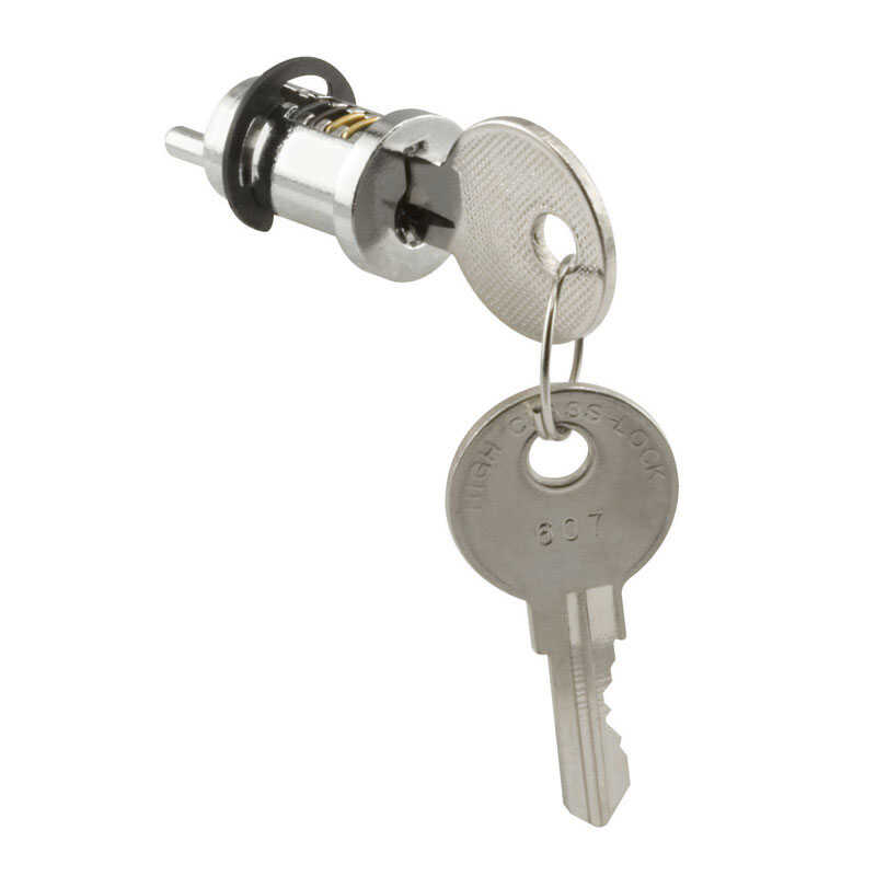 Prime-Line  Metal  Indoor and Outdoor  Key Lock Cylinder