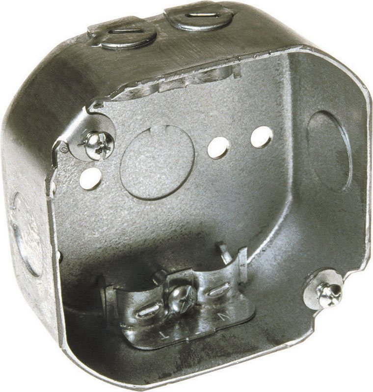 Raco  Octagon  Steel  Junction Box  Gray  4 in. 1 Gang