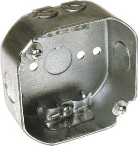 Raco  4 in. Octagon  Steel  Junction Box  Gray  1 gang 1 Gang